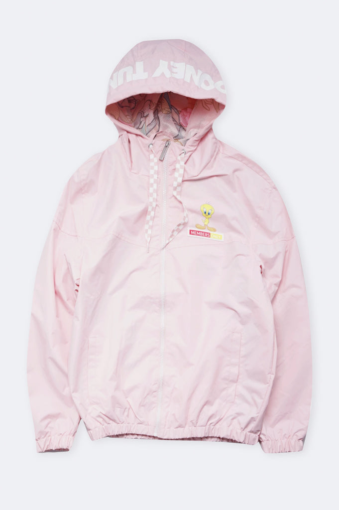Members Only Women Windbreaker Jacket W/Printed Lining