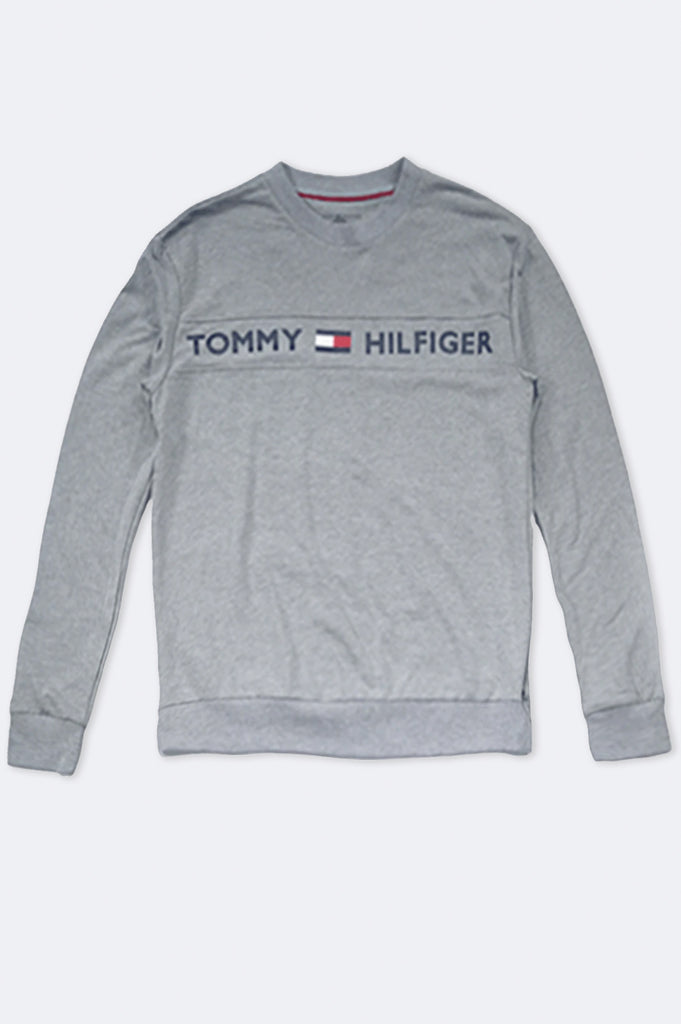 Tommy Hilfiger Loungewear Men French Terry Center Logo Long-Sleeve Tee