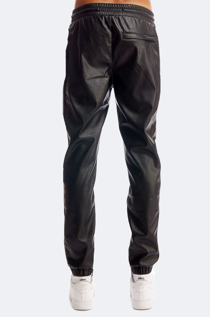 Aao Fashion Men Pu Bicker Jogger Pants