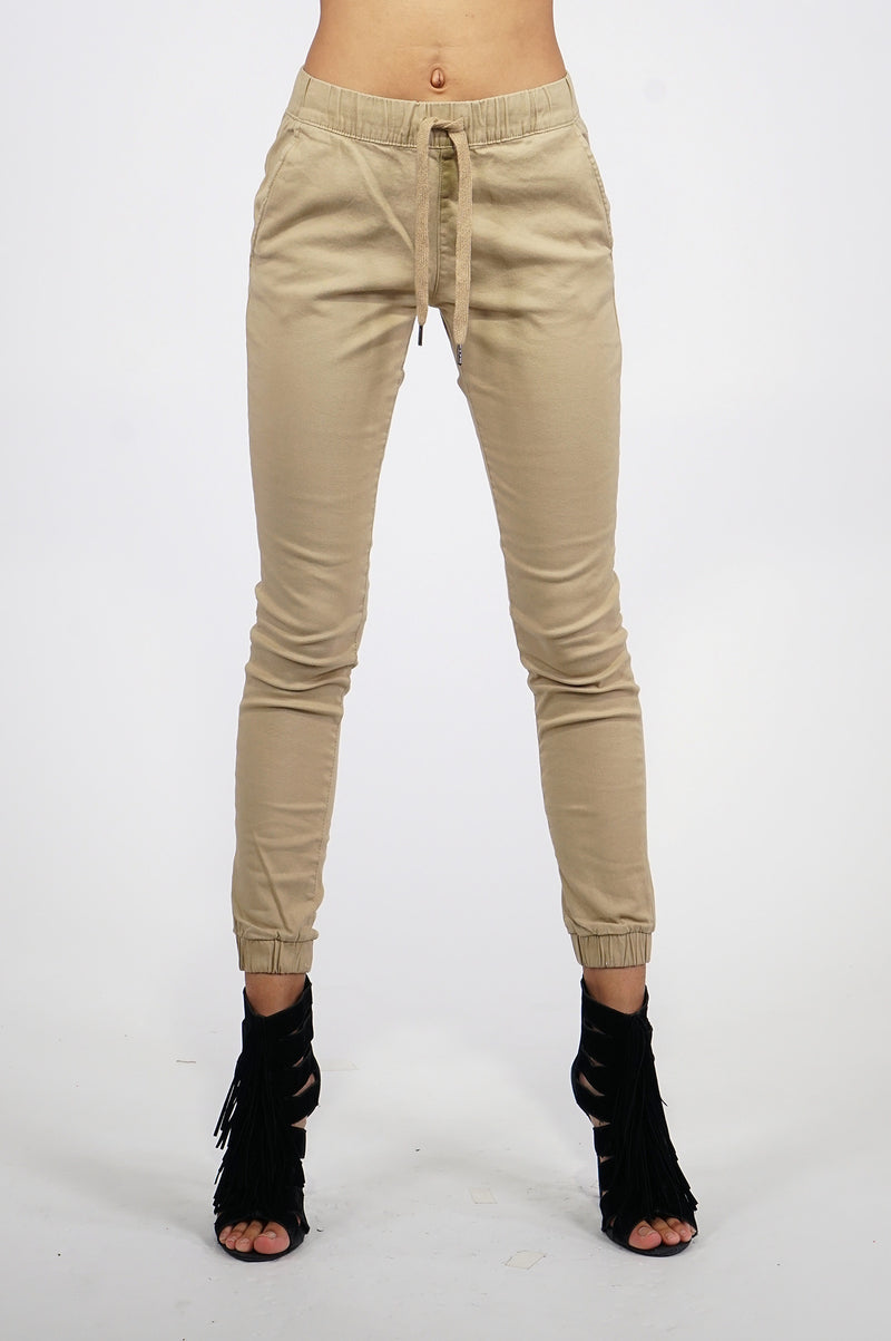 Southpole Womens Twill Basic Jogger Pants