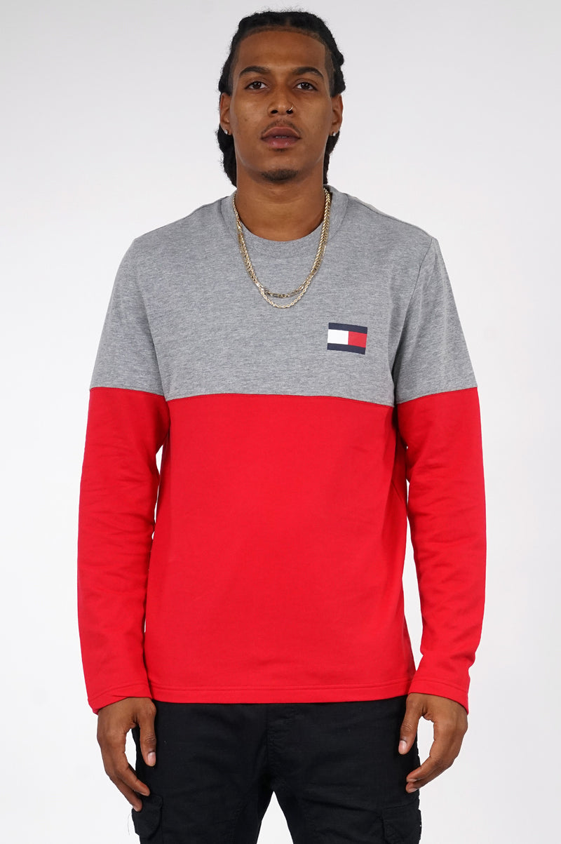 Tommy Hilfiger Loungewear Mens L/S Color Block Tee