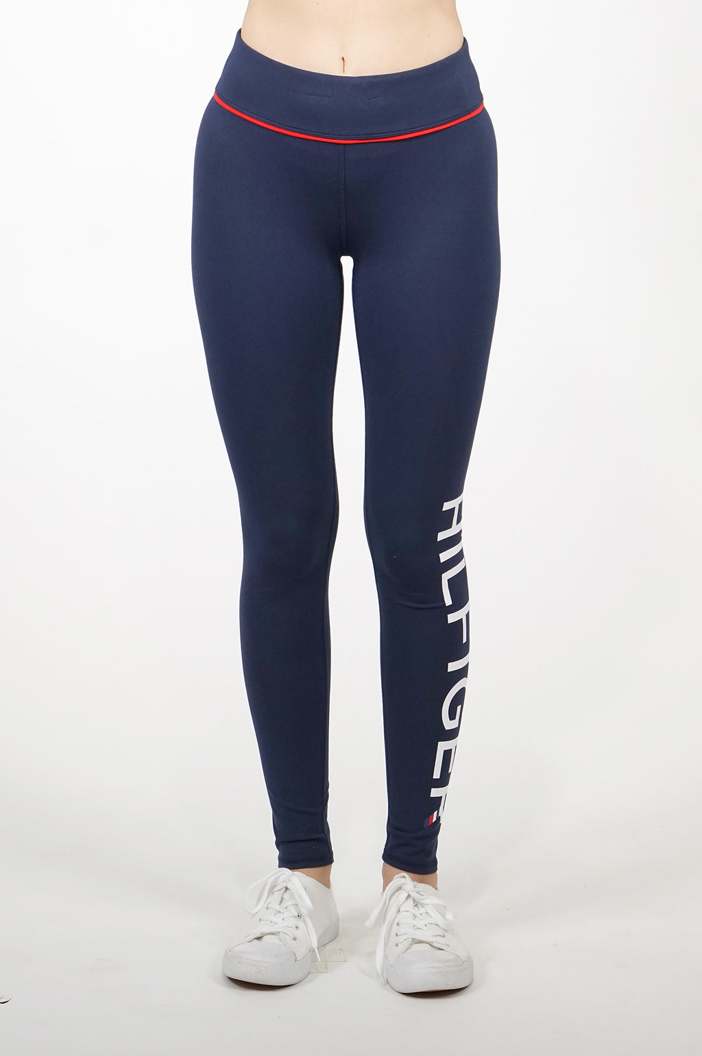 Tommy Hilfiger Activewear Women Midrise Full Length Printed Logo Legging