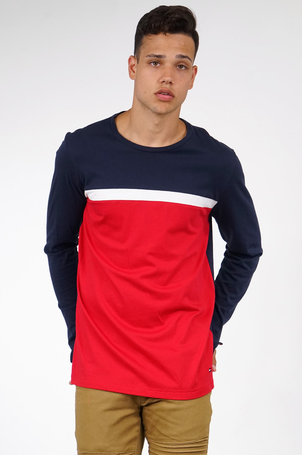 TOMMY HILFIGER LOUNGEWEAR MENS L/S LOGO ESSENTIALS TEE