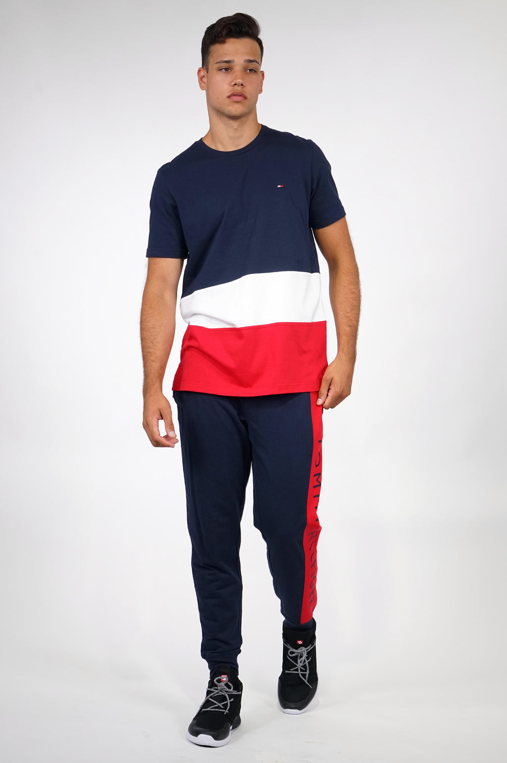 TOMMY HILFIGER LOUNGEWEAR MENS S/S COLOR BLOCK TEE