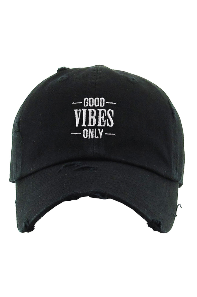 Aao Fashion Acc Dad Hat Good Vibes Only