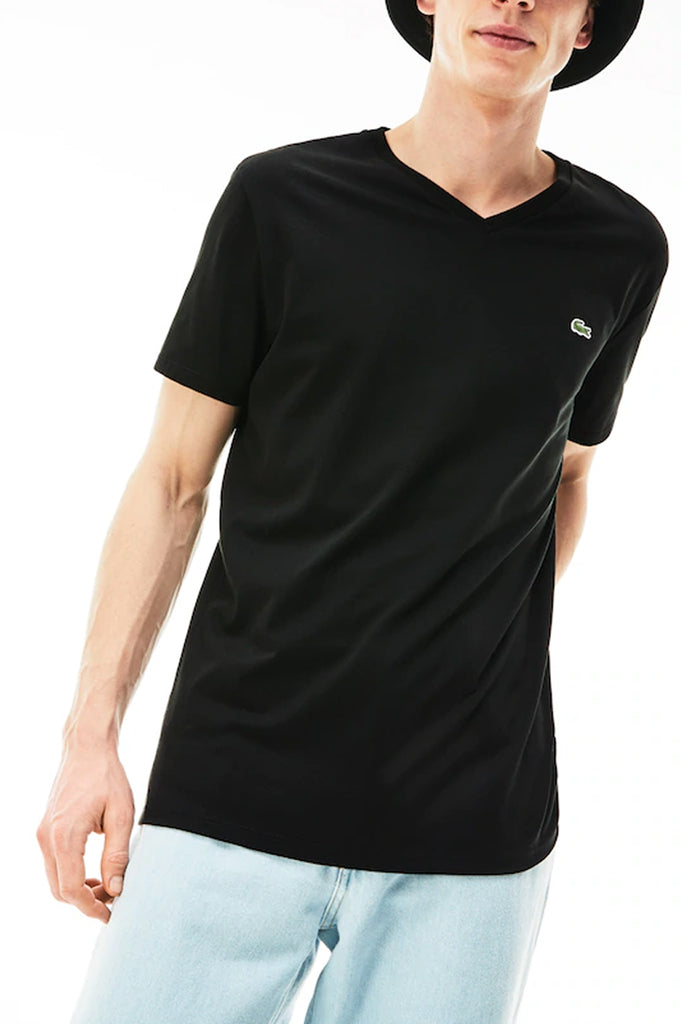 Lacoste Men V-Neck Pima Cotton T-Shirt
