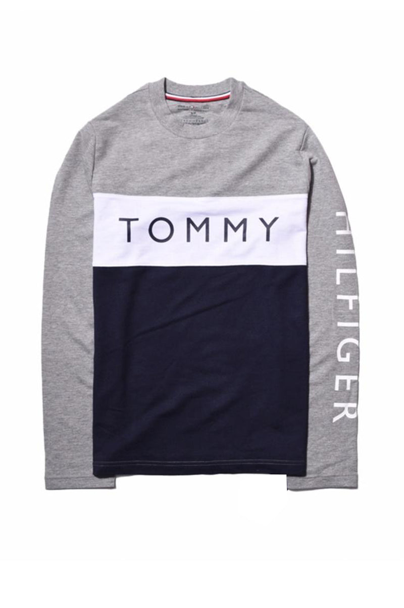 TOMMY HILFIGER MENS CAMPUS L/S TEE