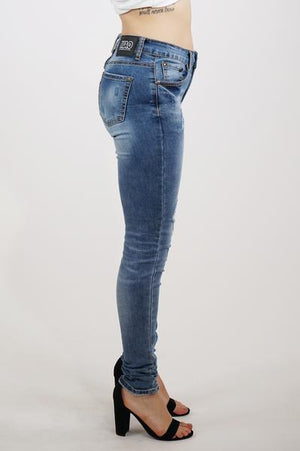 Aao Fashion Womens Ripped Stretch Denim