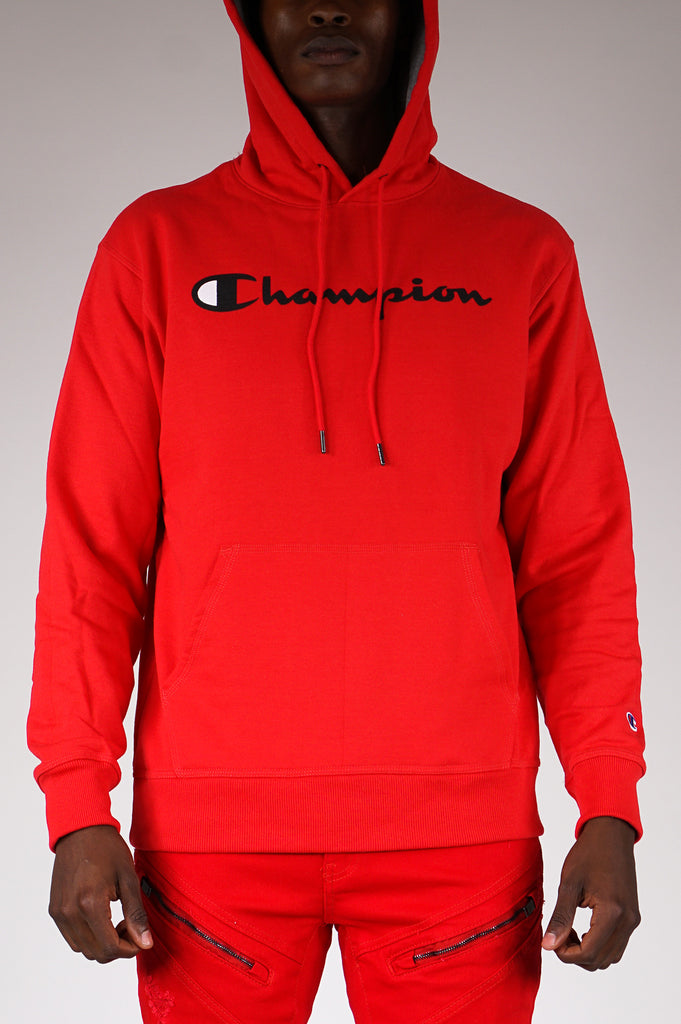 Champion Mens Graphic Powerblend Script Hooded