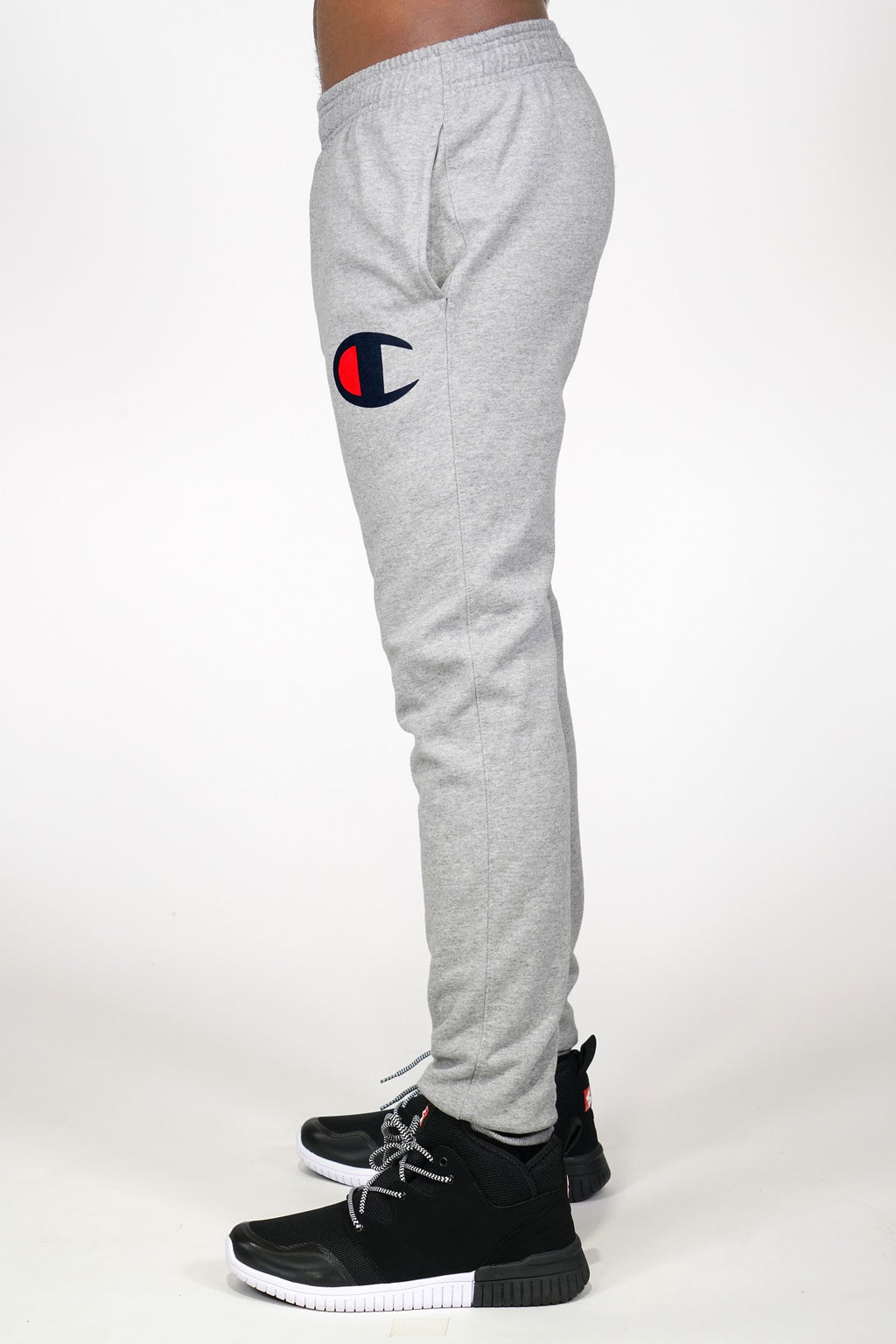 Champion Mens Graphic Powerblend Big C Logo Jogger Pants