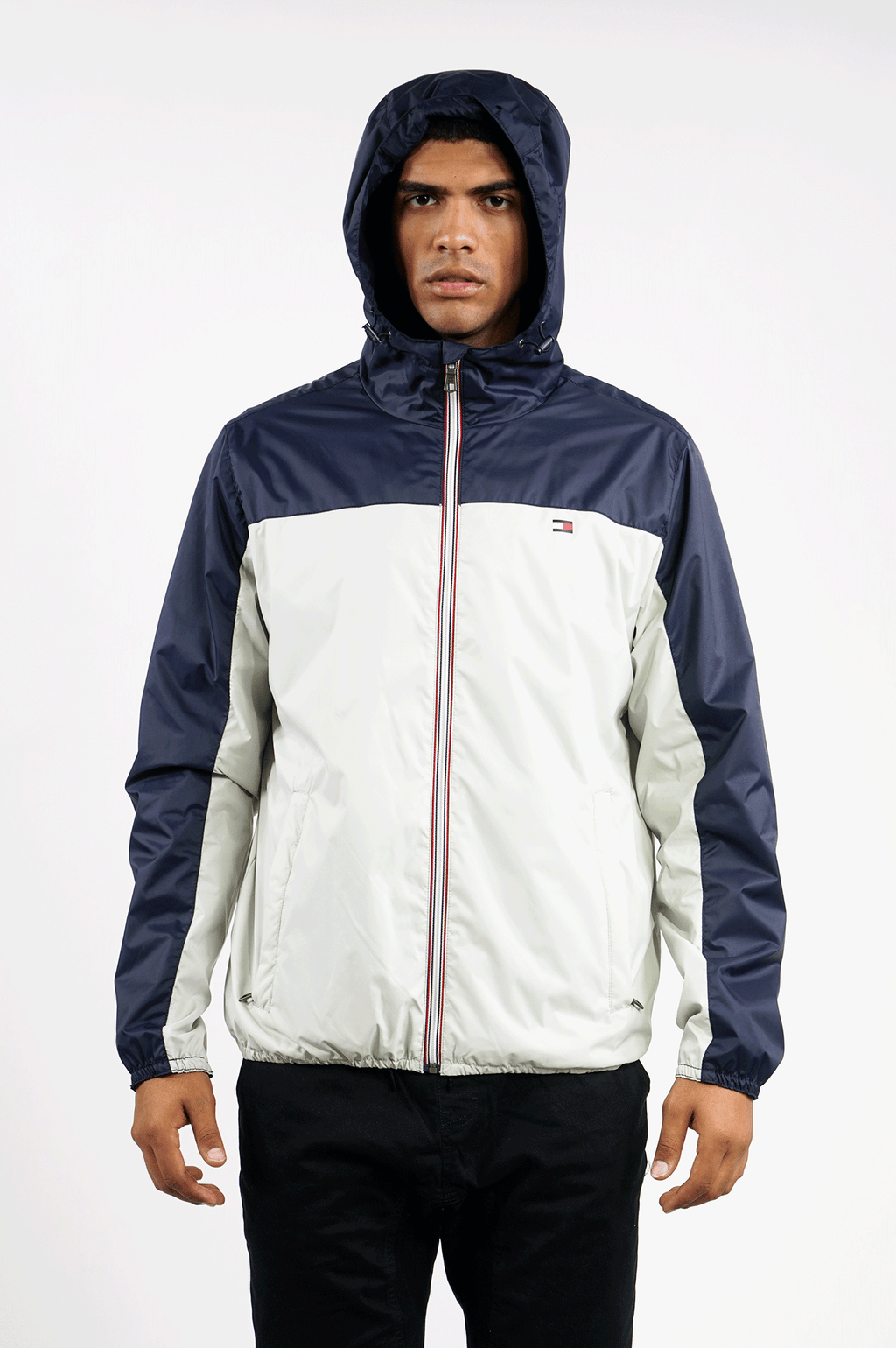TOMMY HILFIGER OUTERWEAR MENS COLOR BLOCK JACKET