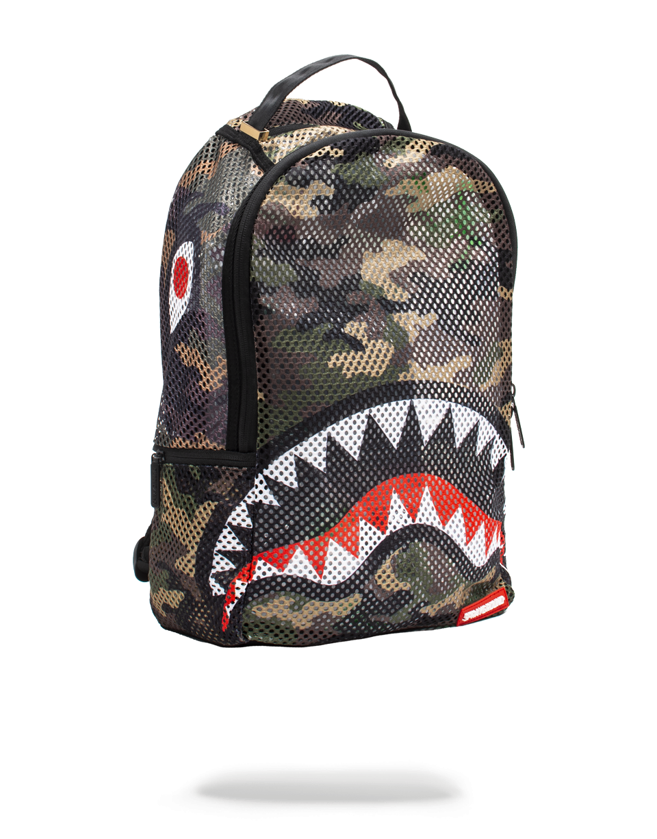 Sprayground Camo Mesh Shark Backpack