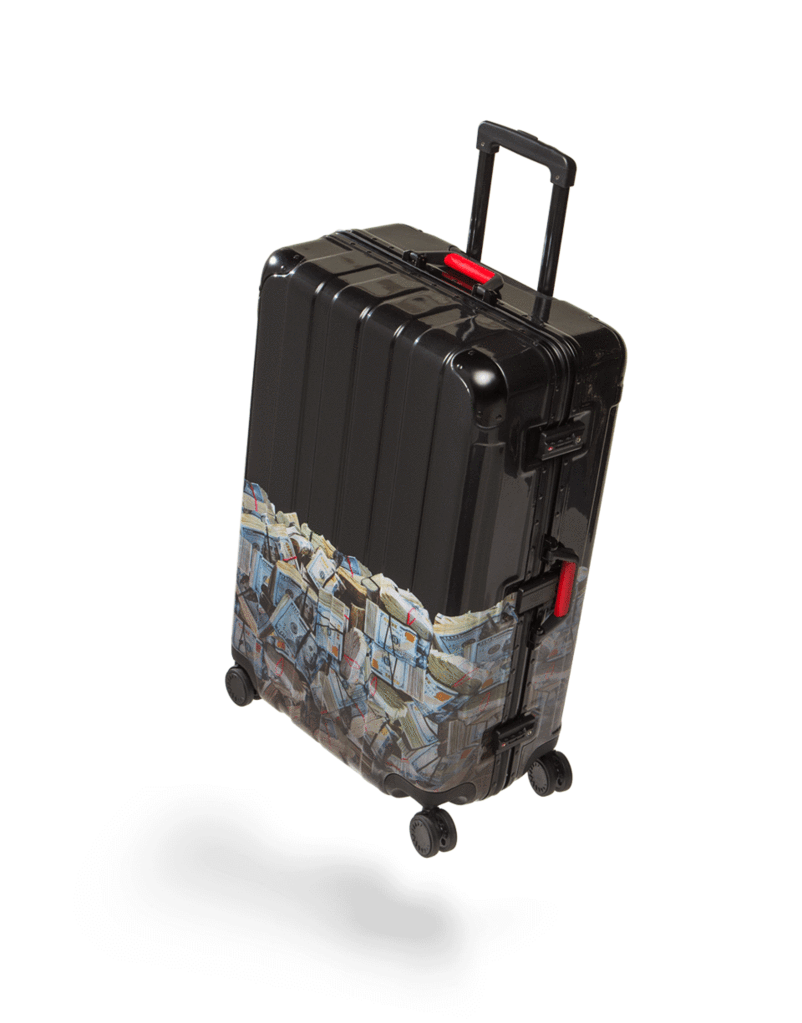 SPRAYGROUND MONEY ROLLED LARGE LUGGAGE