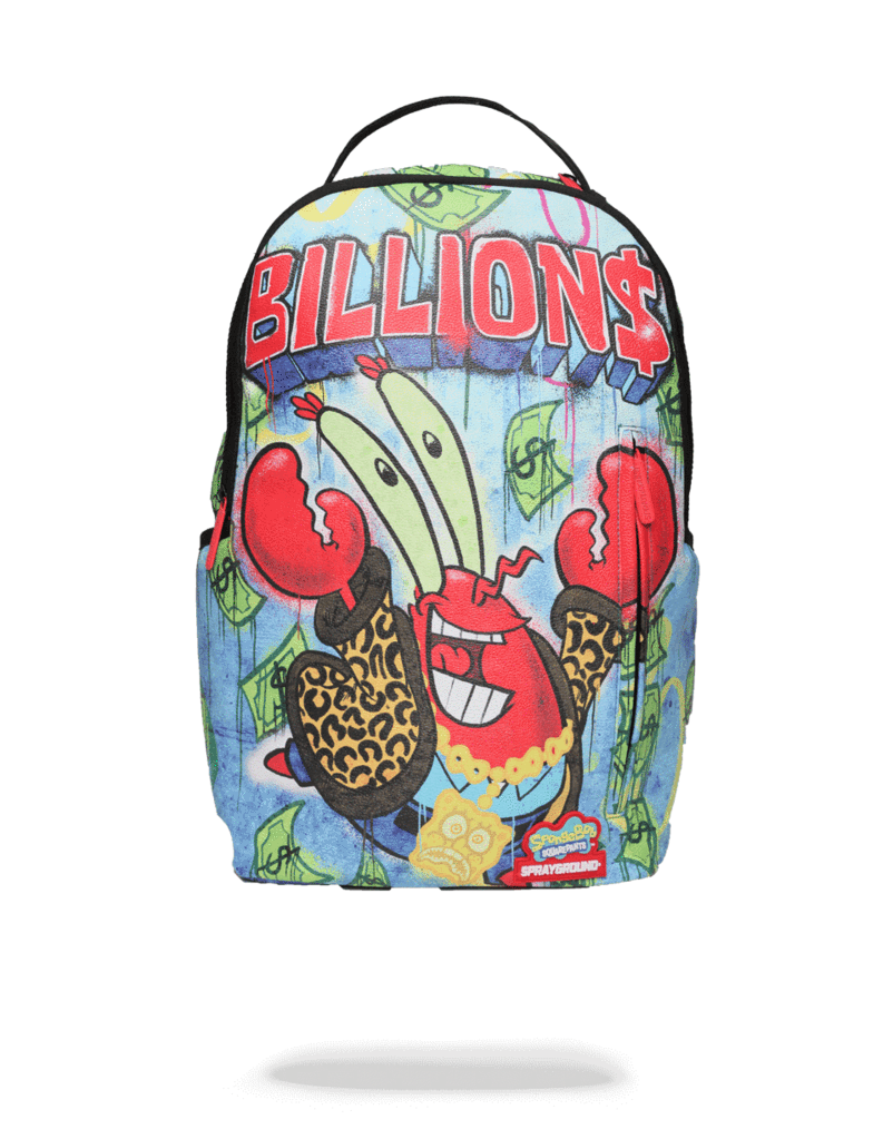 Sprayground Mr Krabs Throwing Up Billions Backpack