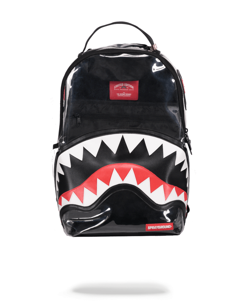 SPRAYGROUND 20/20 VISION CLEAR PVC SHARK BACKPACK