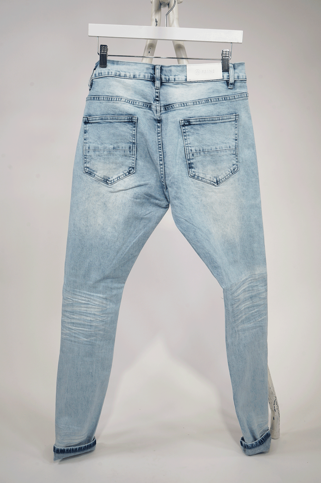 AAO FASHION MENS PATCHED PAINT SPLATER DENIM