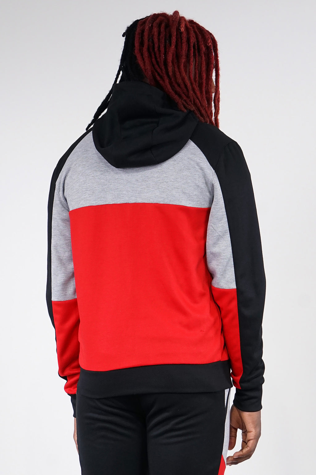 AAO FASHION MENS COLOR BLOCK TECH FLEECE ZIPUP HOODIE