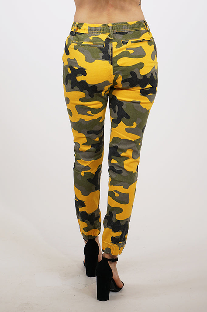 Aao Fashion Women Skinny Camo Jogger