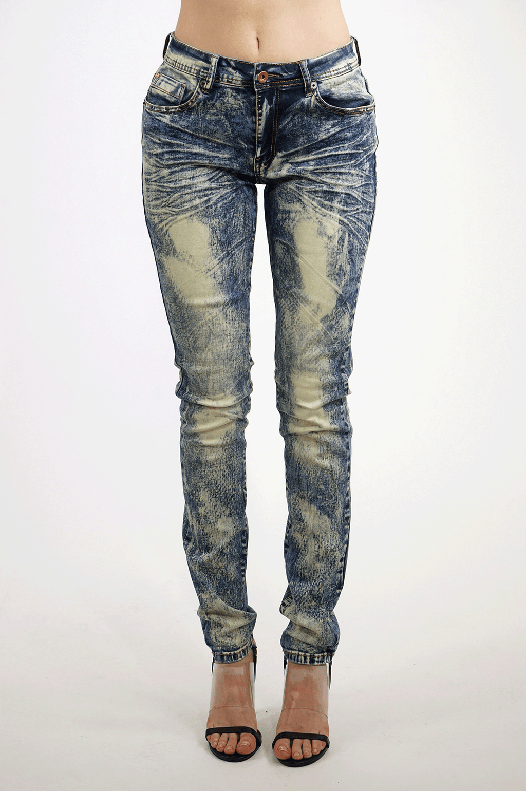 AAO FASHION WOMENS VINTAGE DENIM PANTS