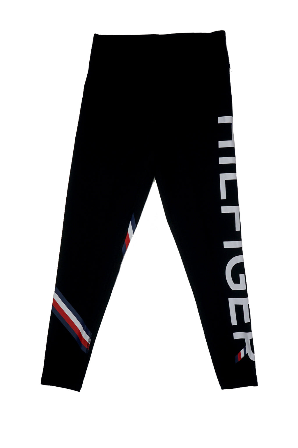TOMMY HILFIGER WOMENS JERSEY LEGGINGS HIGH RISE LOGO