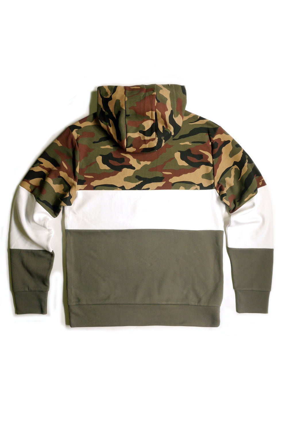 AAO FASHION MENS TECH FLEECE COLOR BLOCK HOODY