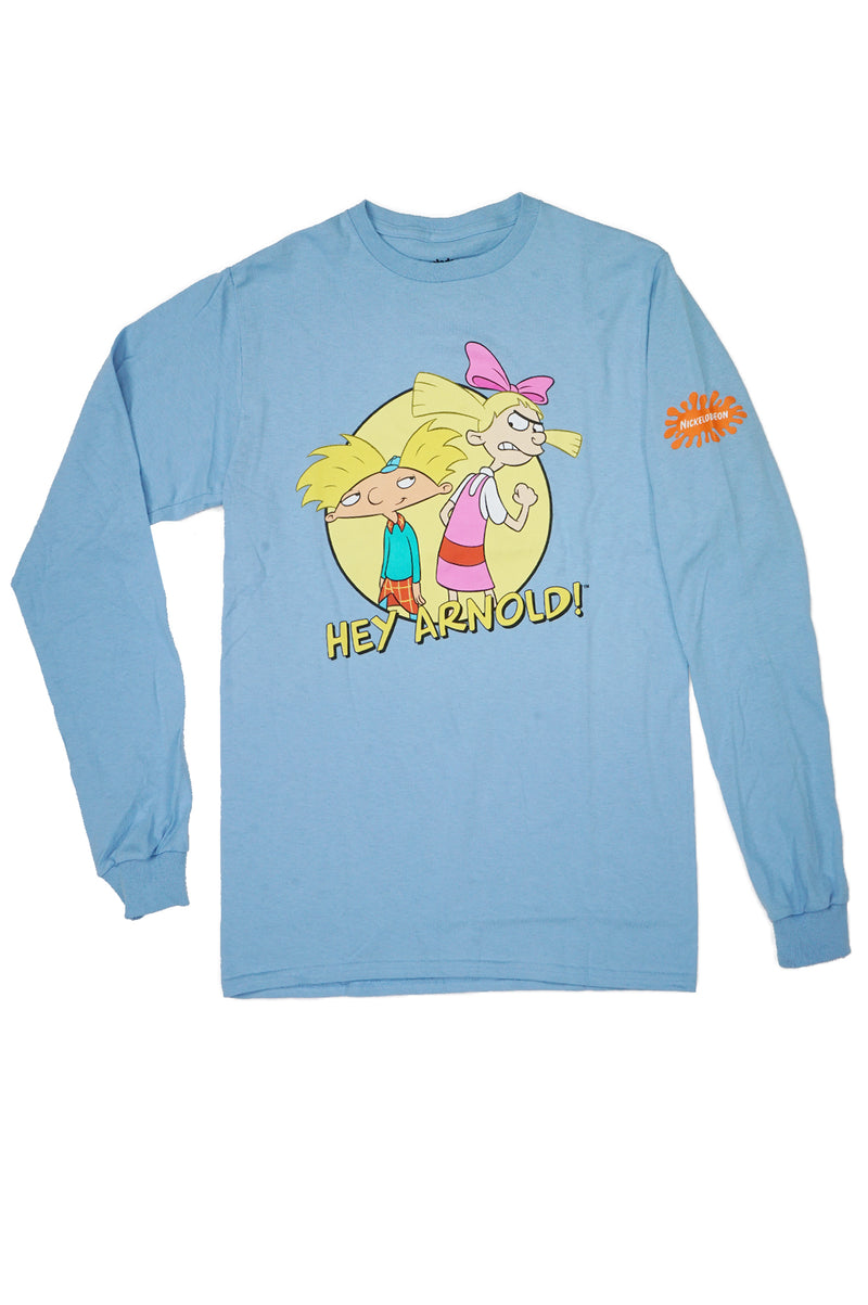 Aao Fashion Mens L/S Nickelodeon French Hey Arnold Tee