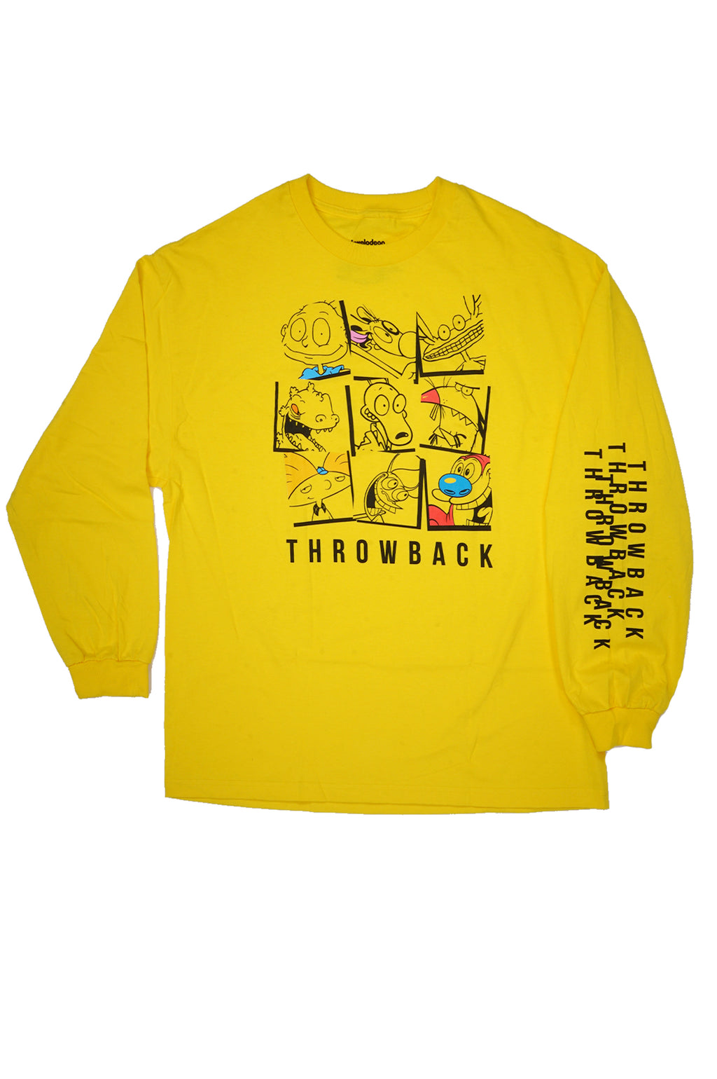 AAO FASHION MENS L/S NICKELODEON=NICK THROWBACK TEE