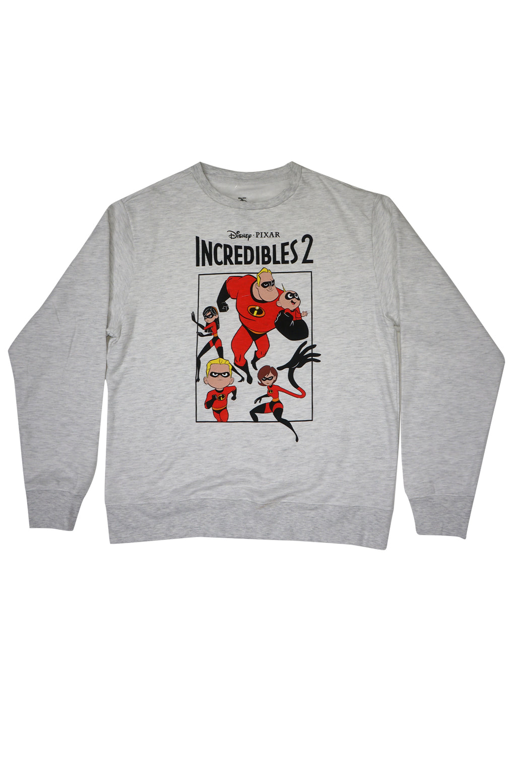 AAO FASHION MENS L/S DISNEY=INCREDIBLES FLAT GROUP TEE