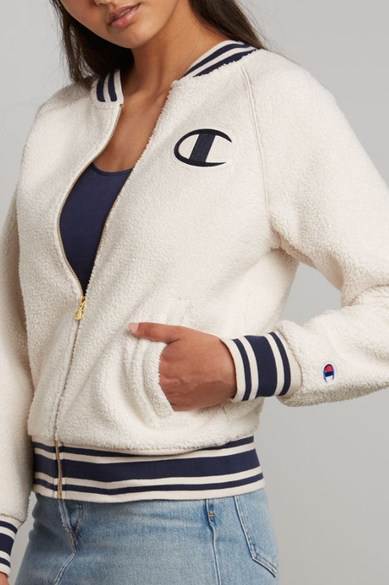 CHAMPION WOMENS SHERPA FULL ZIP JACKET