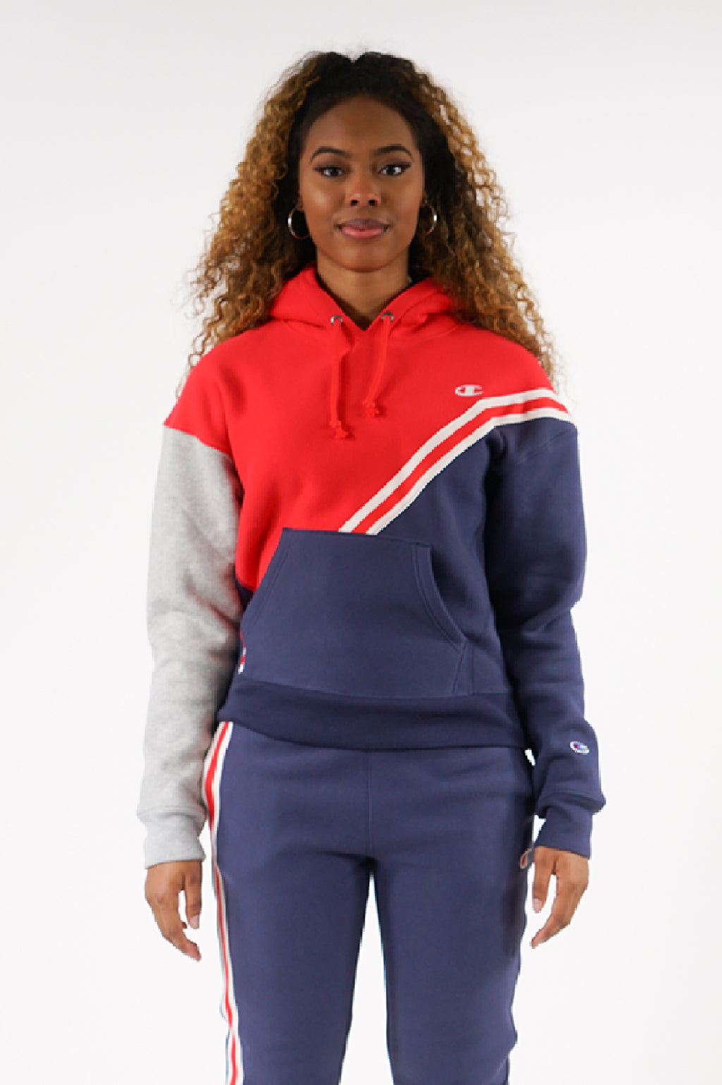 Champion Womens Reverse Weave Color Block Hoodie