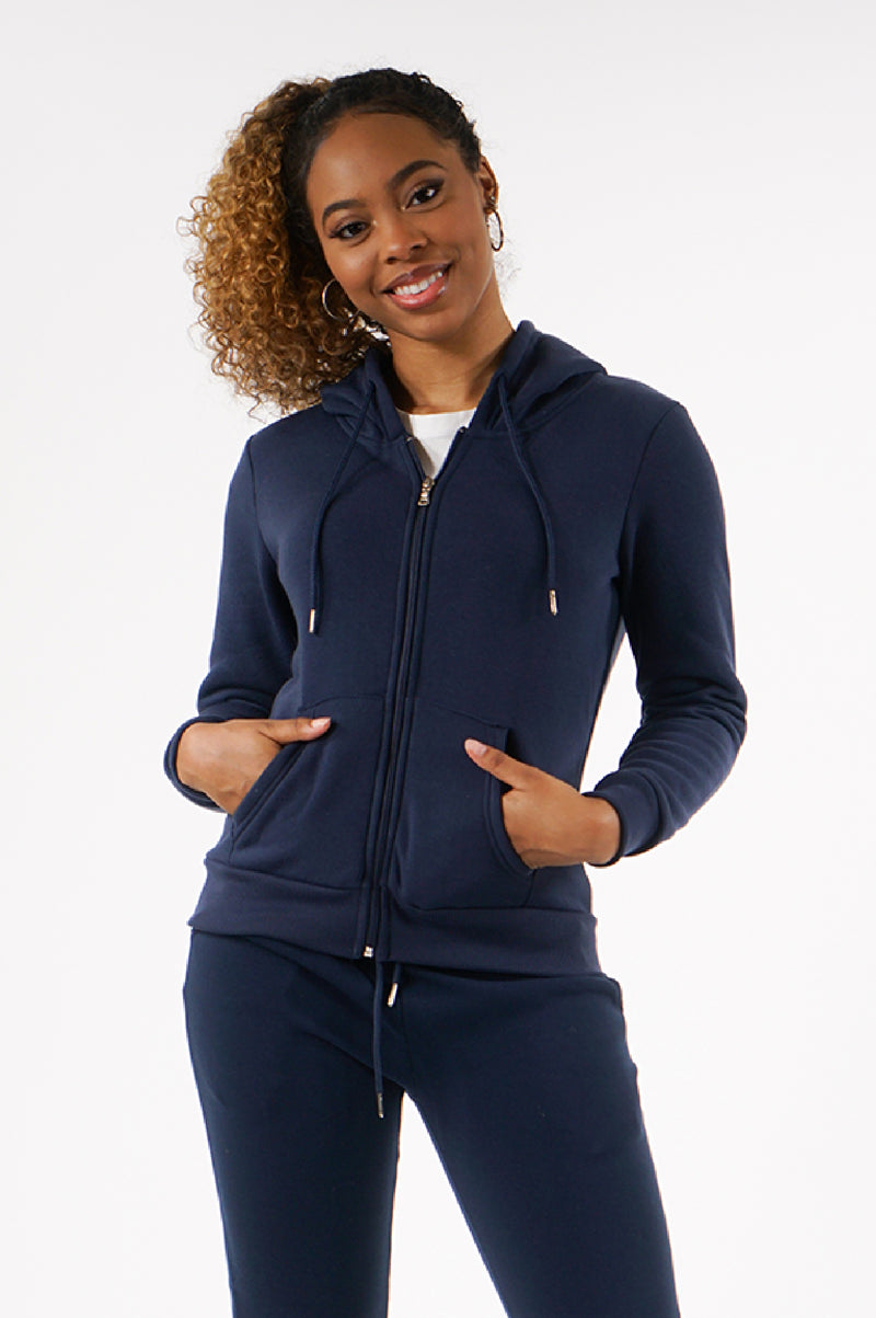 Southpole Womens Full Zip Basic Fleece Hoodie