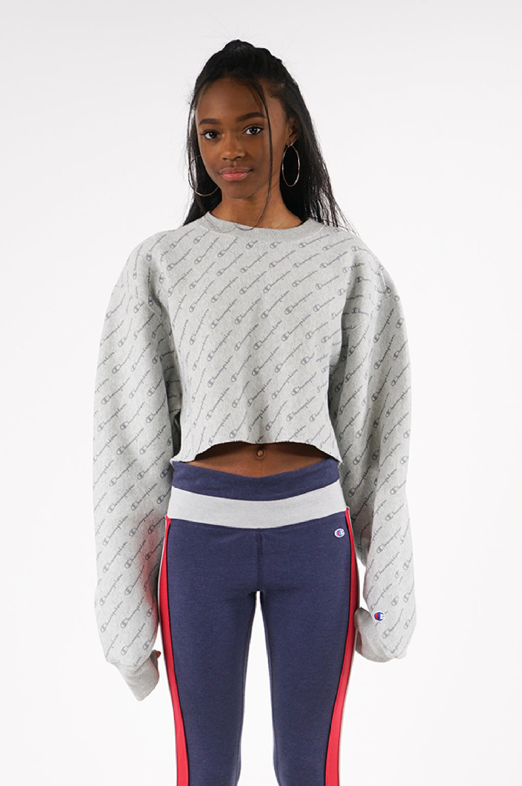 Champion Womens Reverse Weave Cropped Cut Off Crew
