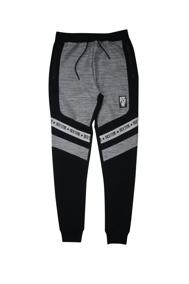 Aao Fashion Mens Rs Melange Block Track Pant