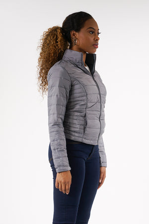 Aao Fashion Women Packable Jacket W/Princess Seam