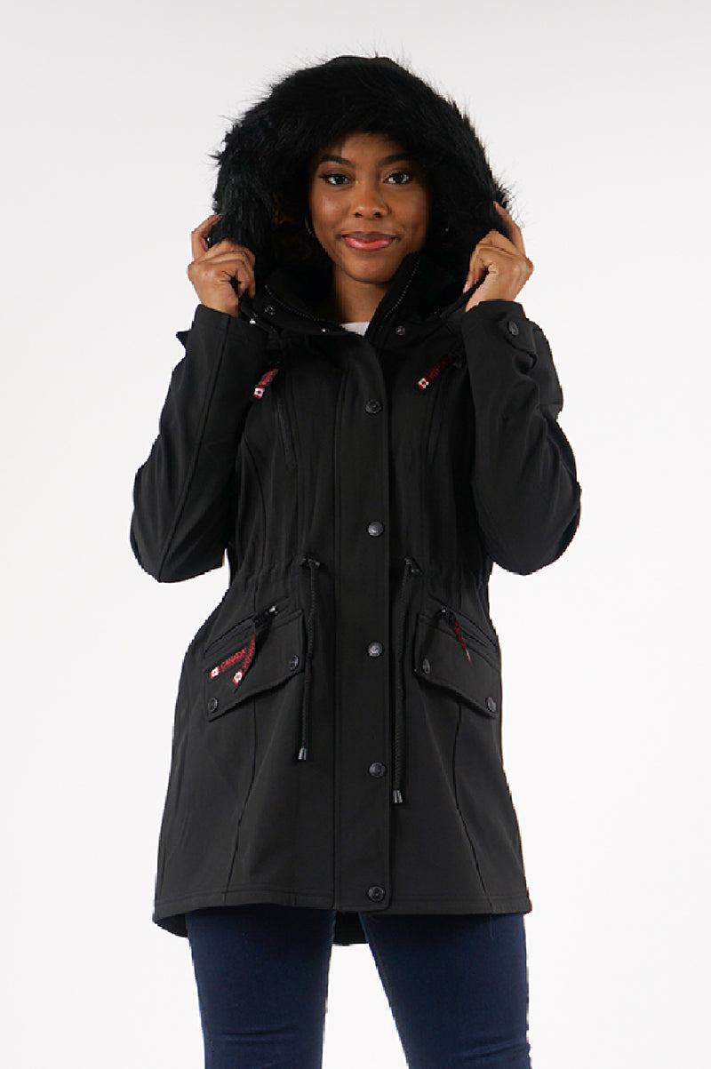 AAO FASHION WOMENS LONG SOFTSHELL JACKET