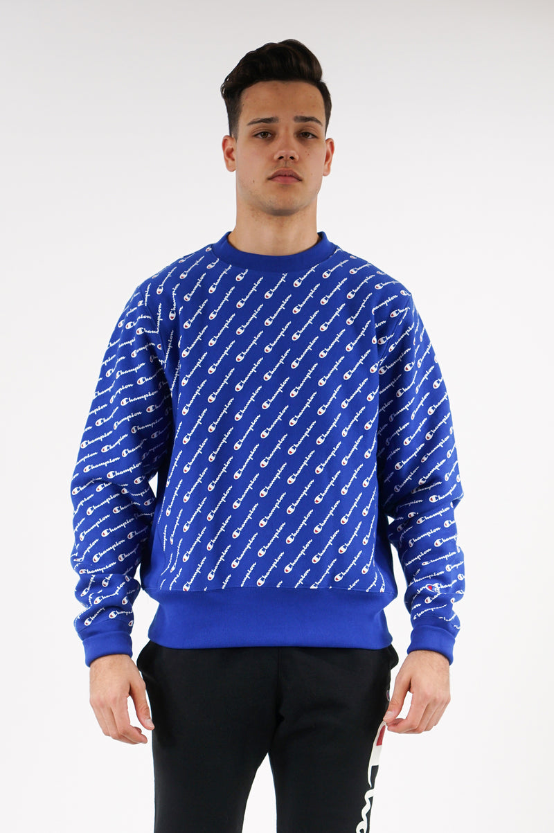 Champion Mens Reverse Weave Crew All Over Print