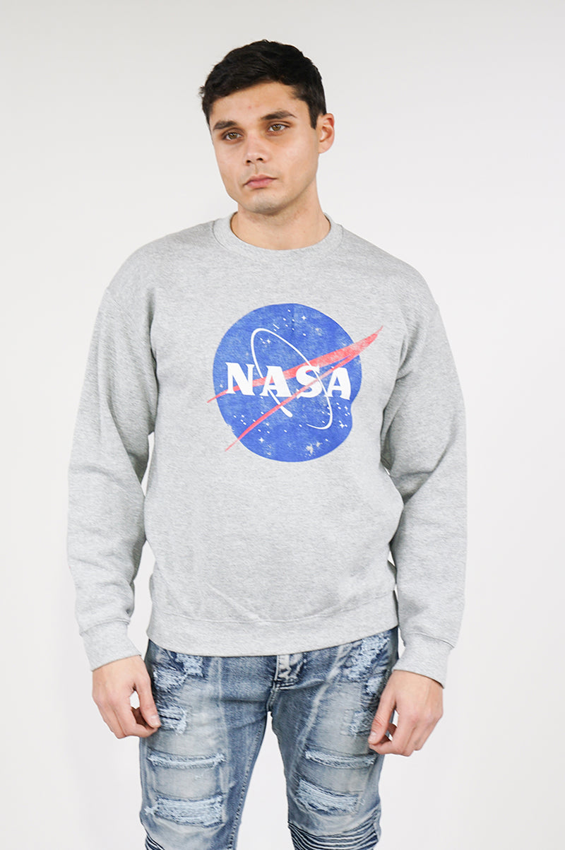 Aao Fashion Mens Nasa=Nasa Logo L/S Tee