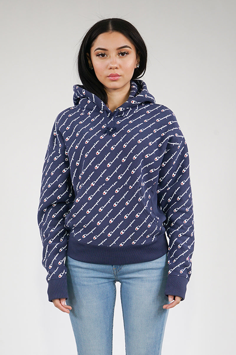 Champion Womens Reverse Weave Pullover Hood-All Over Print