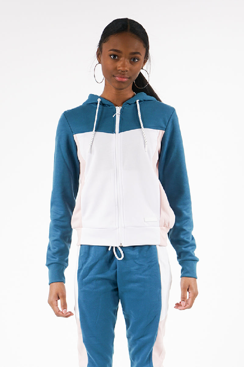 Southpole Womens Tech Fleece Colorblock Full Zip