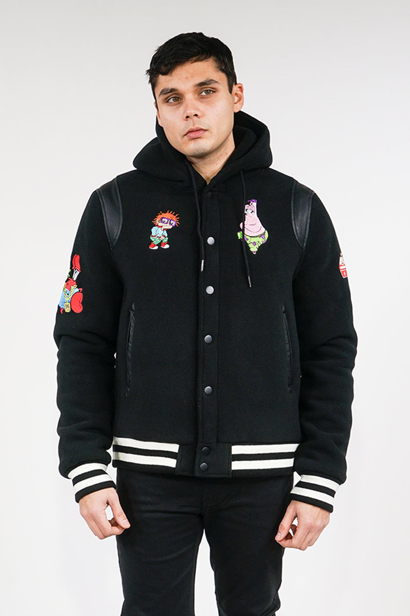 Sprayground Mens Nick Anime Varisty Jacket