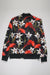 Aao Fashion Mens Poly Jersey Floral Print Jacket