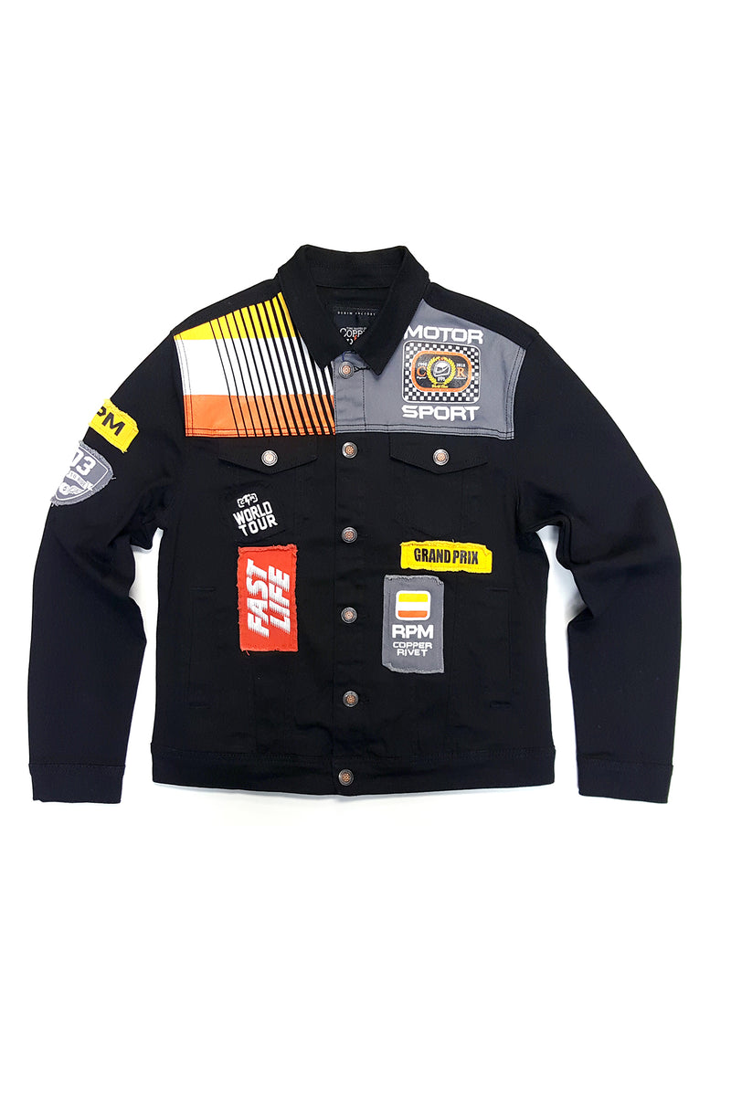 Aao Fashion Mens Racing Twill Jacket