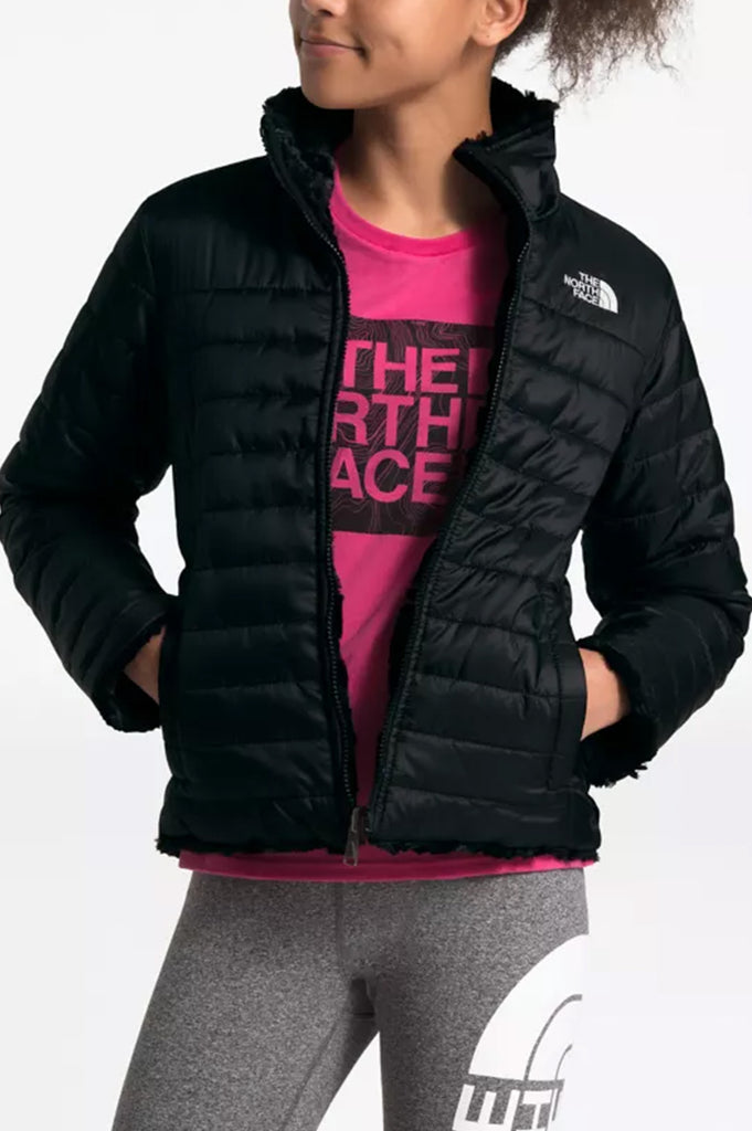 North Face Youth Girl Reversible Mossbud Swirl Jacket