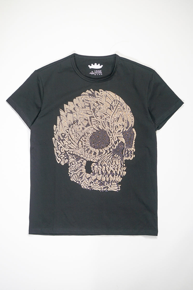 Aao Fashion Mens Cranium Stud Tee
