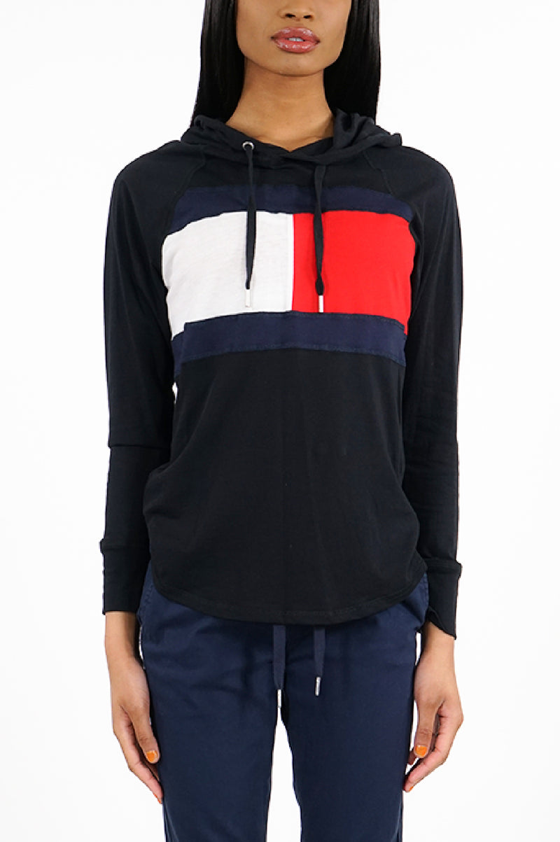 Tommy Hilfiger Activewear Womens Flag Color Block Hoodie