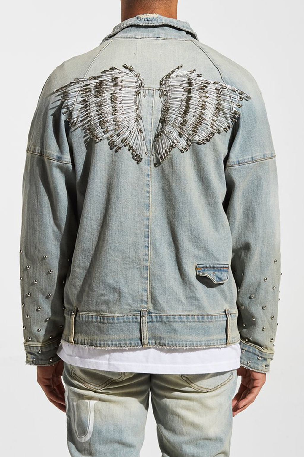 Aao Fashion Men Spungen Denim Jacket