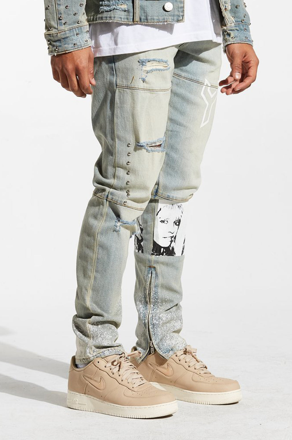 Aao Fashion Men Spungen Denim