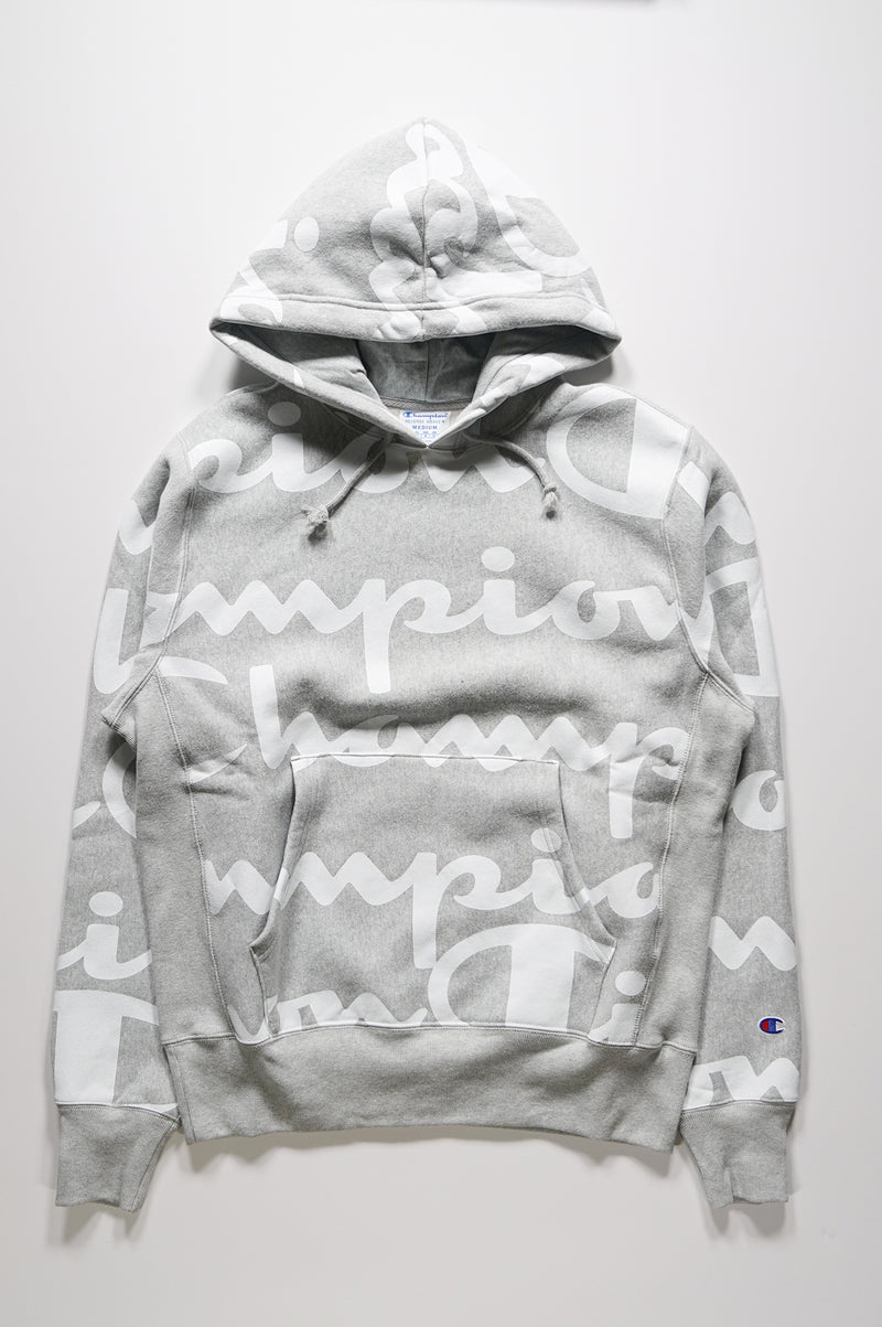 Champion Men Reverse Weave All Over Print Hoodie