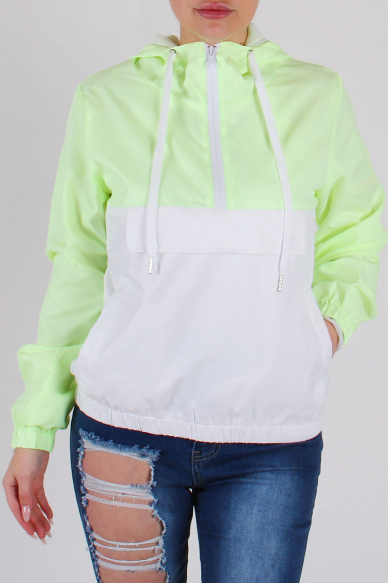Aao Fashion Women Color Block Anorak Jacket
