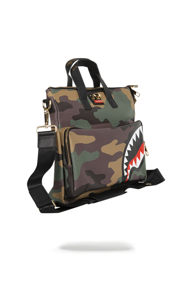 Sprayground Acc Travelcase: Camo Shark Messenger Bag
